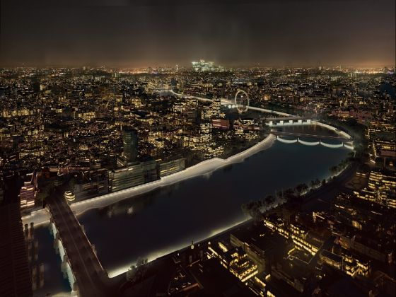 AL_A, The Eternal Story of the River Thames, Masterplan Low tide (c) Malcolm Reading Consultants and AL_A