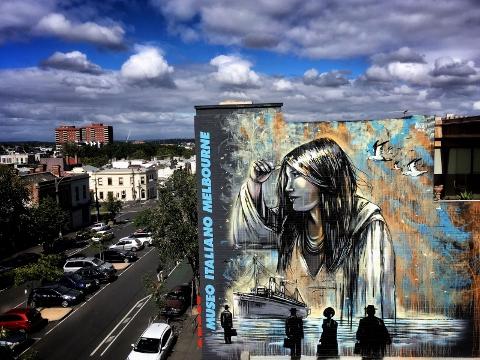 Alice Pasquini, il murale di Melbourne