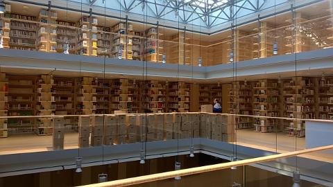 Biblioteca Universitaria Centrale di Trento, progettata da Renzo Piano