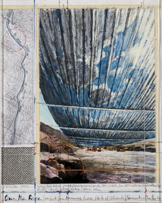 Christo, Over the river, project for the Arkansas River, State of Colorado, 2006