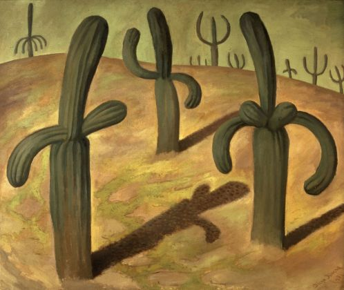 Diego Rivera, Paesaggio con cactus, 1931 - The Jacques and Natasha Gelman Collection of 20th Century Mexican Art and The Vergel Foundation, Cuernavaca