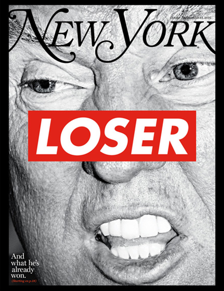 Donald Trump secondo Barbara Kruger