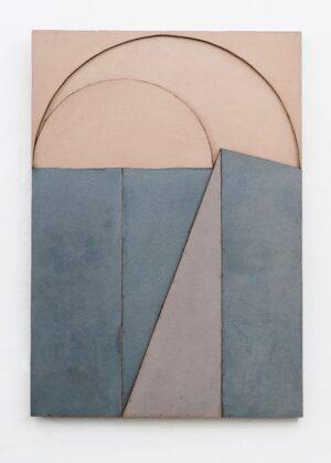 Giuseppe Uncini, Dimore n. 33 B, 1983, cemento ferro e laminato, 100x70 cm