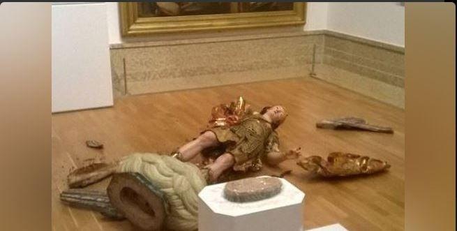 L'opera distrutta a Lisbona