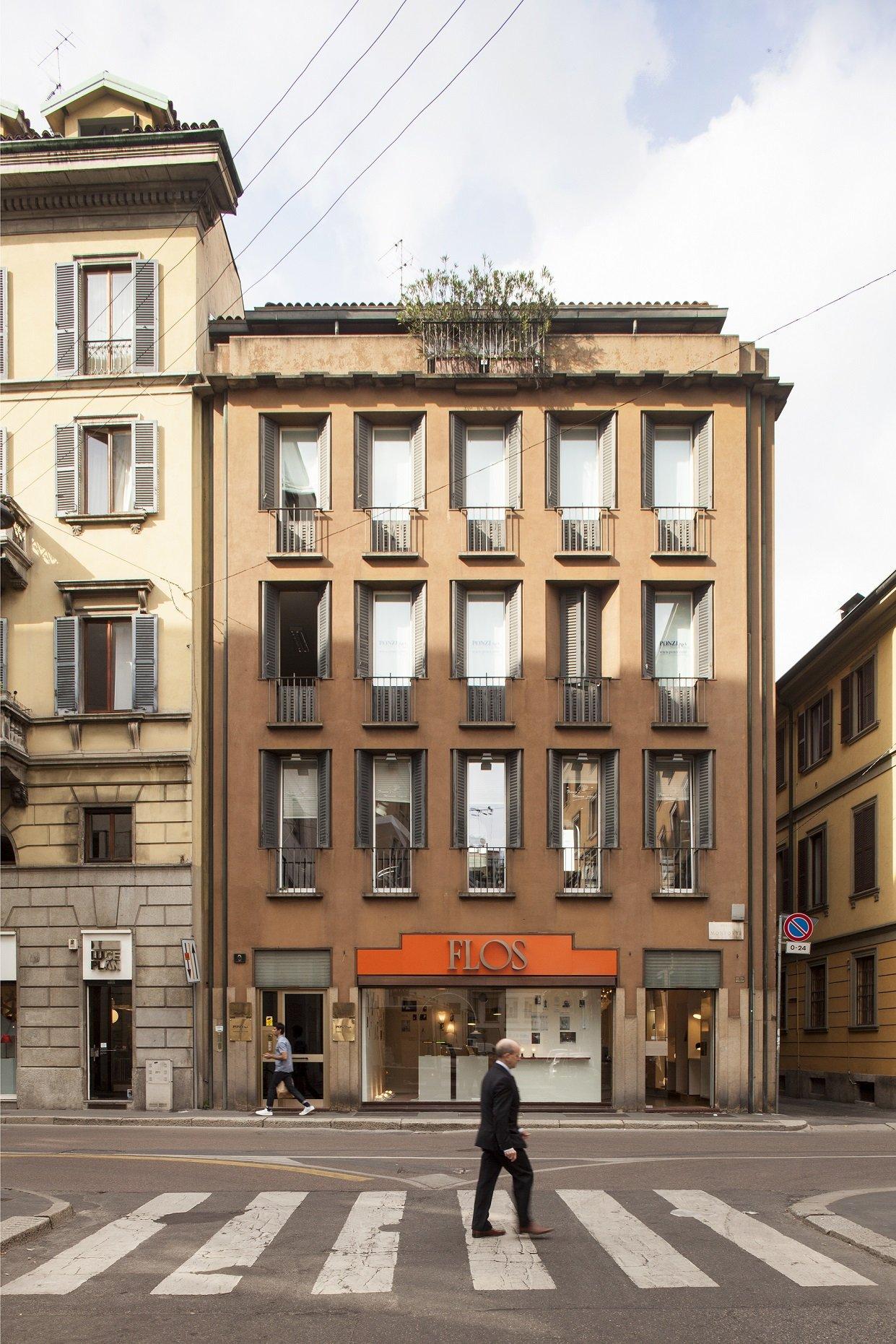 Negozi Per La Casa Milano luigi caccia dominioni, edificio per abitazioni e negozi