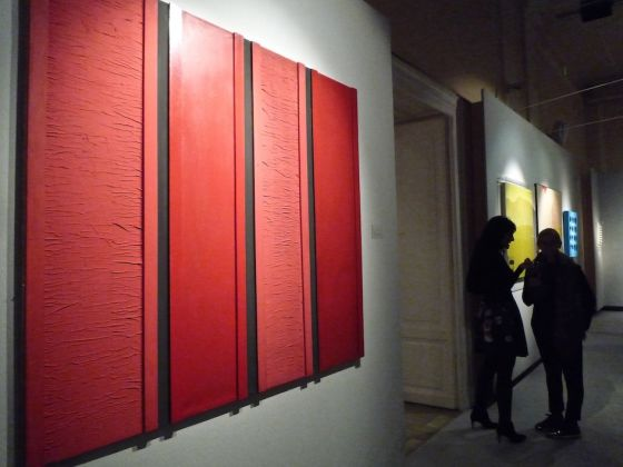 Palais Dorotheum, Opening Vienna Art Week 2016 (in primo piano Tano Festa, Rosso Nero n. 44)