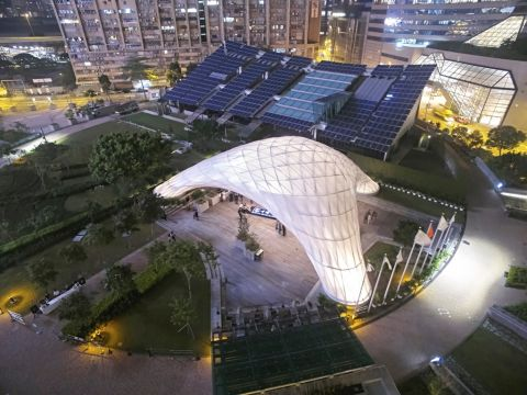 Small Project of the Year - Chinese University of Hong Kong School of Architecture, ZCB Bamboo Pavilion