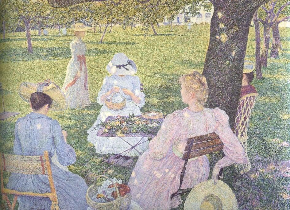 Albertina, Théo van Rysselberg, In Juli, Family in the Orchard - © Kröller-Müller Museum, Otterlo