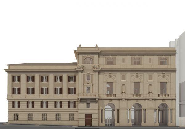 Fondazione Cerasi - Prospetto Via Merulana