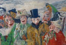 James Ensor, L'intrigo, 1890 - Antwerp, Koninklijk Museum voor Schone Kunsten. Foto KMSKA © www.lukasweb.be - Art in Flanders vzw. Photography - Hugo Maertens - © DACS 2016. Courtesy Royal Academy, Londra