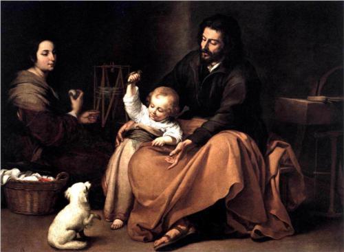 La sacra famiglia, di Esteban Murillo