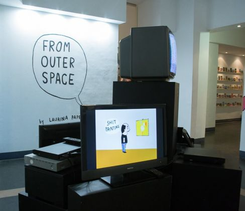 Laurina Paperina – From Outer Space - exhibition view at Fusion Art Gallery, Torino 2016