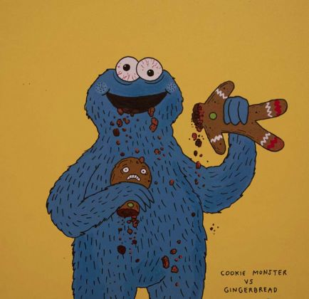 Laurina Paperina, Cookie. Monster ws gingerbread, 2016 - photo credit www.lovinkm.it