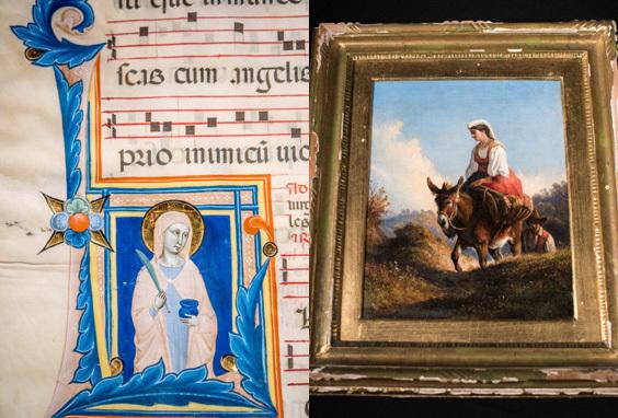 Le opere restituite all'Italia (foto ArtNet)