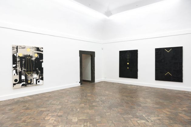Panos Tsagaris – Let The Sun Protest – installation view at MLF - Marie-Laure Fleisch, Roma 2016 - courtesy MLF - Marie-Laure Fleisch - photo Giorgio Benni