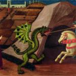 Paolo Uccello, San Giorgio e il drago, 1440 ca., Tempera su tavola, Parigi, Musée Jacquemart-André, Institut de France