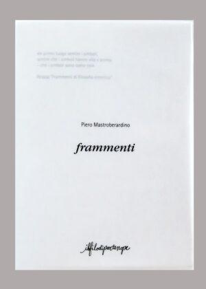 Piero Mastroberardino – Frammenti (ilfilodipartenope) - cover