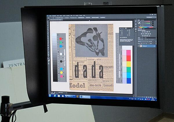 Scanned collage (1919) by Hans Arp, (Gr.Inv. 1980_107), Photo- Kunsthaus Zürich, Work © 2015 ProLitteris, Zurich