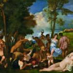 Tiziano Vecellio, Il baccanale degli Andrii, 1522-24 ca., Olio su tela, Madrid, Museo Nacional del Prado