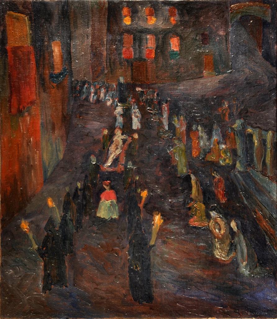 Alberto Burri, Processione del Cristo Morto, 1946 - Fondazione Palazzo Albizzini, Collezione Burri, Città di Castello