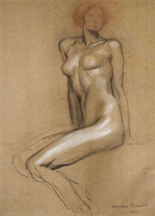 Amedeo Bocchi, Nudo, studio per l'affresco La ricchezza, 1914 - Collezione privata