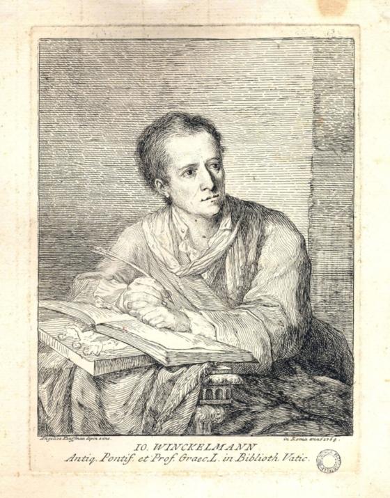 Angelica Kaufmann, Ritratto di J. J. Winckelmann