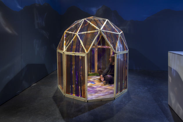 Angelica Teuta - Forest Houses Tent Shelters Forest - exhibition view at Kasia Michalski Gallery, Varsavia 2016