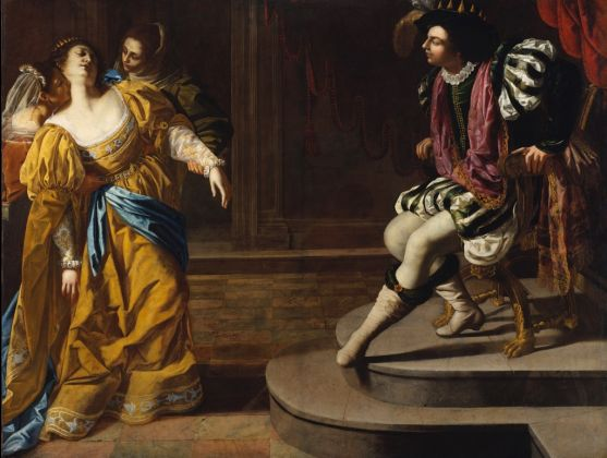 Artemisia Gentileschi, Ester e Assuero, 1626-29 ca.. Lent by The Metropolitan Museum of Art, gift of Elinor Torrance Ingersoll, 1969. © The Metropolitan Museum of Art