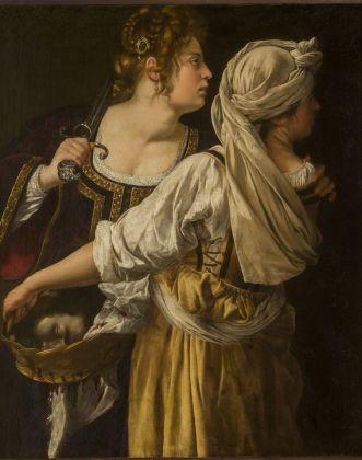 Artemisia Gentileschi, Giuditta e la fantesca Abra, 1613 ca.. Firenze, Gallerie degli Uffizi. Gabinetto Fotografico delle Gallerie degli Uffizi