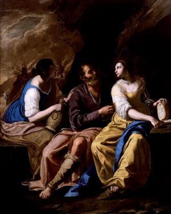 Artemisia Gentileschi e Bernardo Cavallino, Loth e le figlie, 1635-37 ca.. Toledo, lent by the Museum of Art, Clarence Brown Fund. ©Toledo Museum of Art. Photo Richard Goodbody Inc.