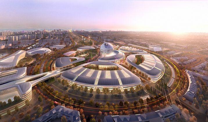 Astana Expo City 2017 - masterplan by Adrian Smith + Gordon Gill Architecture (AS+GG)