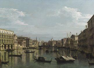 Bernardo Bellotto, Il Canal Grande verso sud, dai Palazzi Foscari e Moro Lin fino a Santa Maria della Carità, Venezia, 1738 ca., Collezione privata
