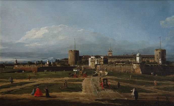 Bernardo Bellotto, Il Castello Sforzesco, Milano, 1744 ca., The National Heritage Institute, České Budějovice