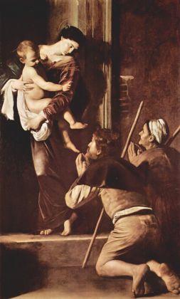 Caravaggio, Madonna dei Pellegrini, 1604-06. Basilica di Sant'Agostino, Roma
