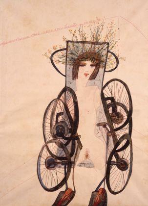 Carol Rama, Appassionata, 1940, acquerello e matita su carta, Fondazione Guido ed Ettore De Fornaris