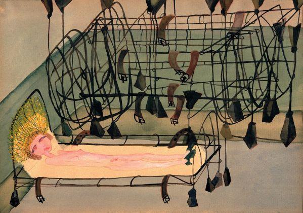 Carol Rama, Appassionata, 1940, acquerello e matita su carta - Fondazione Guido ed Ettore de Fornaris, photo Gonella 1999