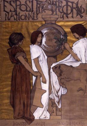 Duilio Cambellotti, Esposizione Nazionale di Torino, 1897-98, bozzetto - Roma, Archivio dell'Opera di Duilio Cambellotti