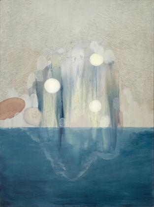 Elisa Bertaglia, Out of the Blue, 2016, olio, carboncino e grafite su faesite, 122x91 cm