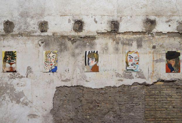 Ella Kruglyanskaya, Vanitas. Installation view at Sant'Andrea de Scaphis, Gavin Brown's Enterprise, Roma 2017