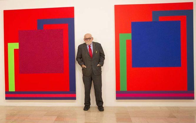 Emilio Mazzoli alla mostra Peter Halley – New Paintings - Galleria Mazzoli, Modena 2016