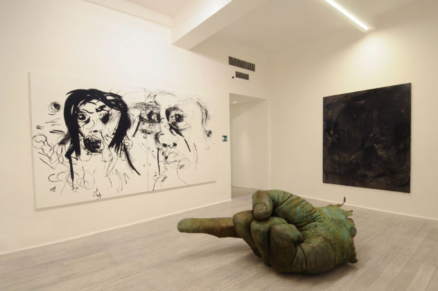 Faith & Fathom - exhibition view at Galleria Poggiali, Firenze 2016