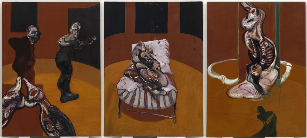 Francis Bacon, Three Studies for a Crucifixion, 1962 - Solomon R. Guggenheim Museum, New York - © The Estate of Francis Bacon - DACS-VEGAP, Bilbao, 2016
