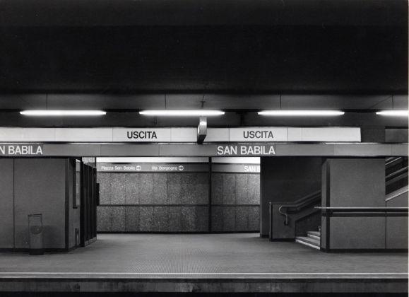 Franco Albini, interni della metropolitana di Milano © Fondazione Franco Albini