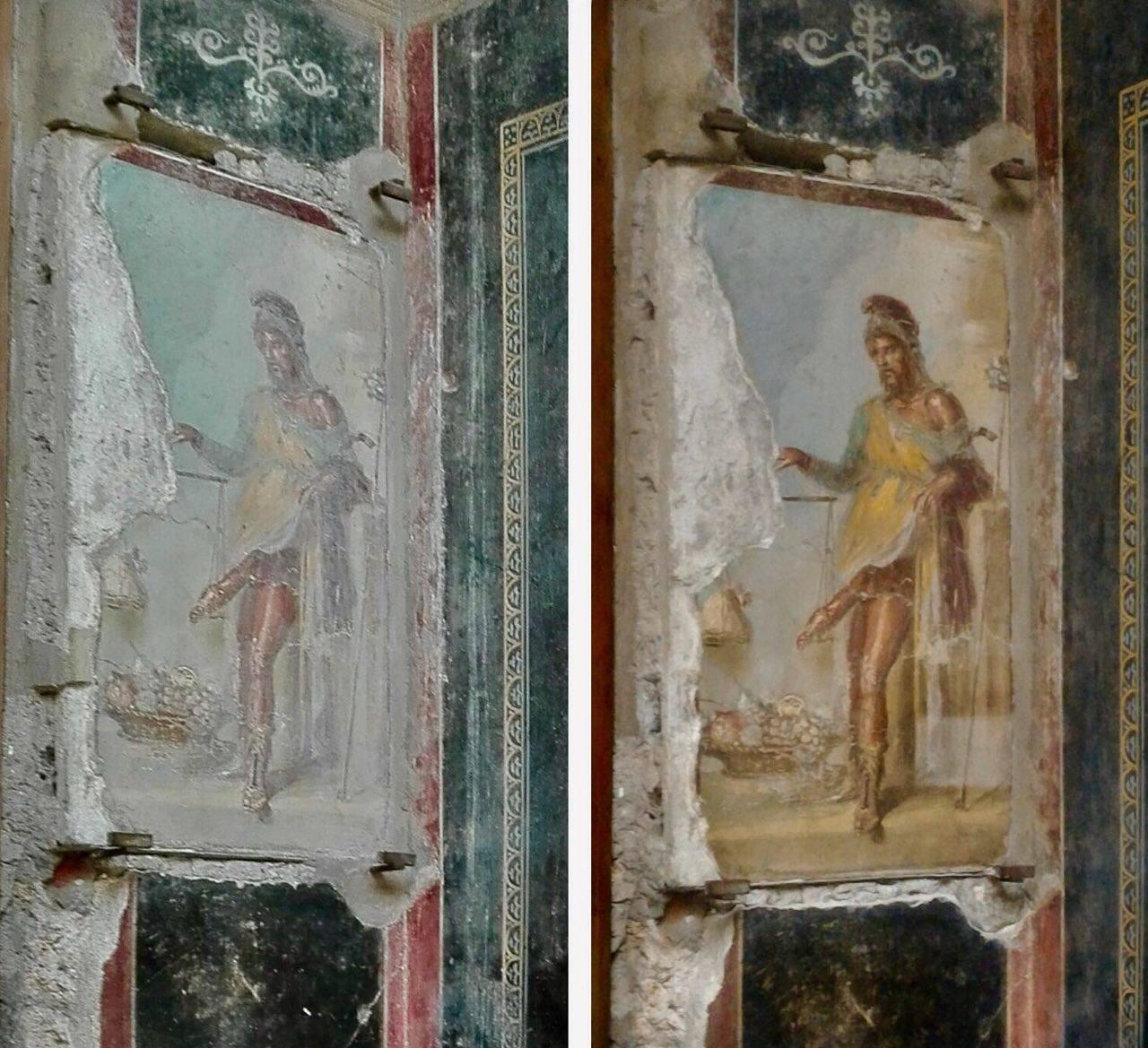 Gli affreschi del triclinio della casa dei vettii a for Casa immagini