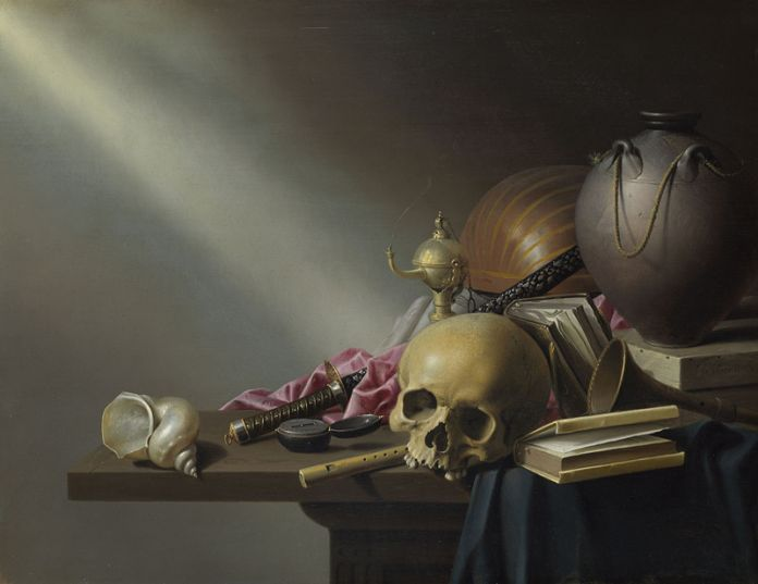 Harmen Steenwyck, Still Life. An Allegory of the Vanities of Human Life (circa 1640), courtesy of the National Gallery, London