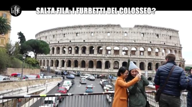 Il Colosseo su Le Iene