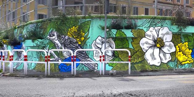 Il murale di Lucamaleonte a Roma