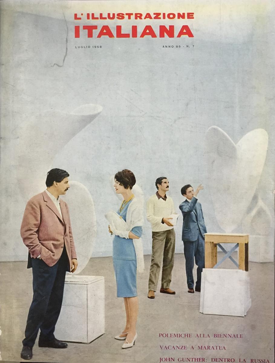 Illustrazione Italiana, numero 85, 7 luglio 1958, copertina, foto Ugo Mulas