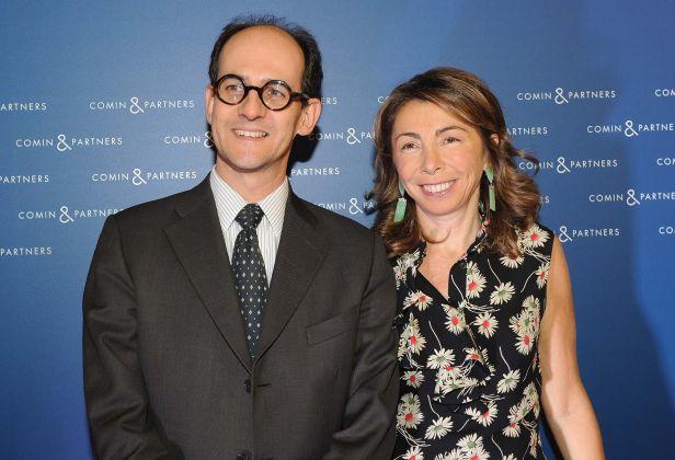 Inaugurazione Comin & Partners, Roma - Elena Di Giovanni e Roberto Olivi (foto Maurizio Riccardi)