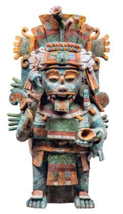 Incensiere - Mayapán, Yucatán, Periodo Post-Classico tardo (1250-1527 d.C.) - INAH, Museo Regional de Antropología, Palacio Cantón, Mérida, Yucatán